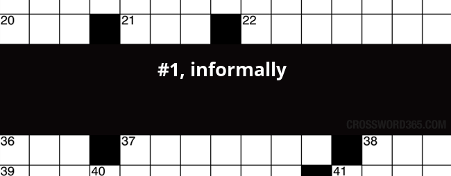 1 Informally Crossword Clue