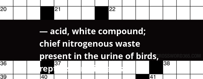 uric acid is the chief nitrogenous wastes in