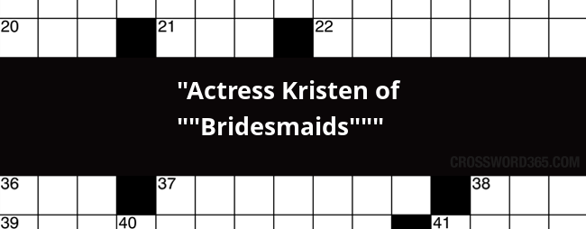 kristen of bridesmaids crossword