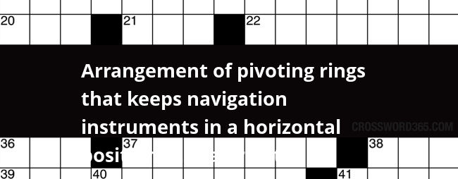 Arrangement of pivoting rings that keeps navigation for Century plant crossword clue