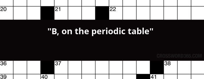 B On The Periodic Table Crossword Clue