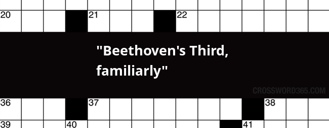 beethoven s third familiarly crossword clue