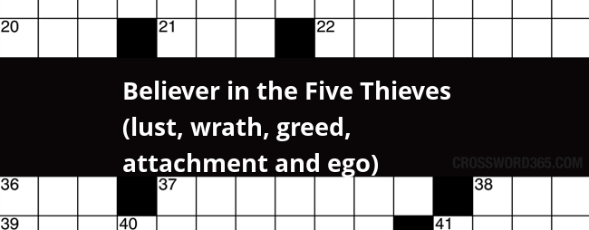 Believer in the Five Thieves (lust, wrath, greed ...