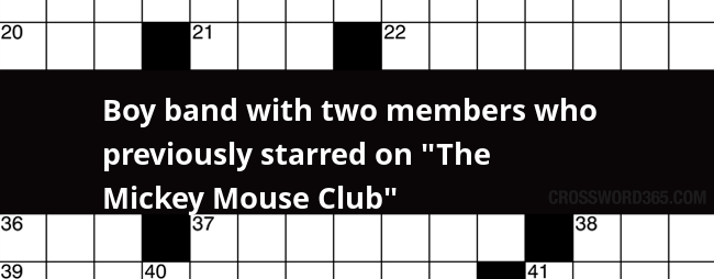 Boy Band With Two Members Who Previously Starred On The Mickey Mouse Club Crossword Clue