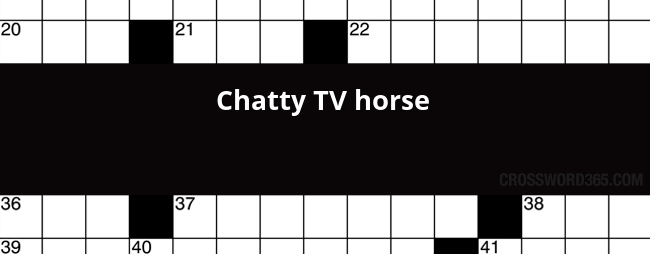 Chatty TV horse