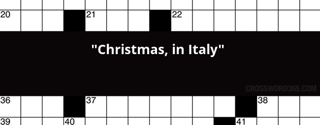 Christmas In Italy Crossword.Christmas In Italy