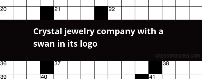 Crystal Jewelry Company With A Swan In Its Logo Crossword Clue