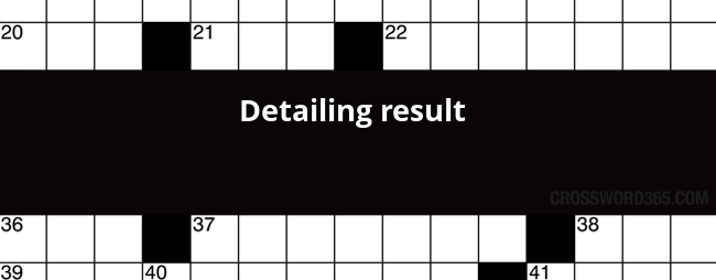 result crossword clue