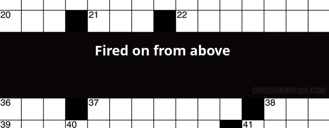 Fired On From Above Crossword Clue