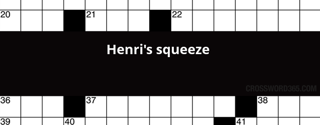 Henri S Squeeze Crossword Clue
