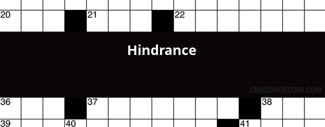 Hindrance Crossword Clue