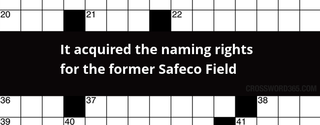 It Acquired The Naming Rights For The Former Safeco Field Crossword Clue