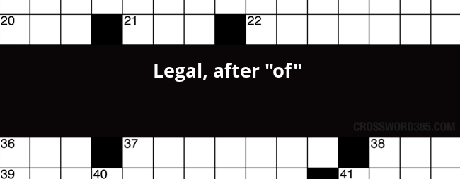 Legal After Of Crossword Clue