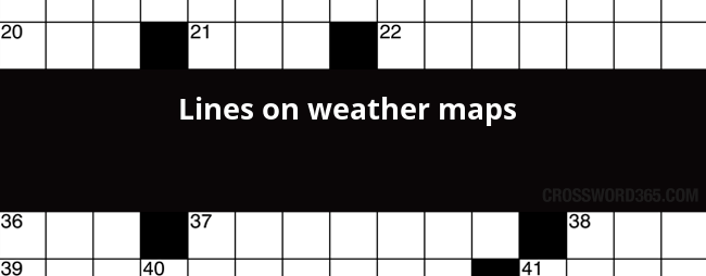 Line On A Weather Map Crossword | Park Ideas