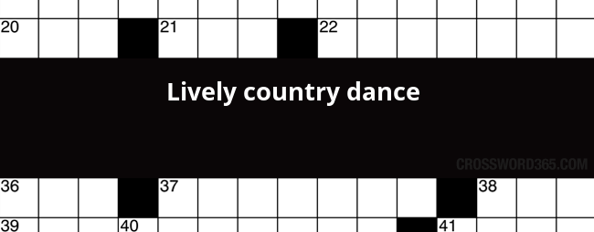 Lively Country Dance Crossword Clue