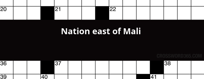 Nation East Of Mali Crossword Clue