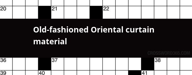 Old Fashioned Light Crossword Clue