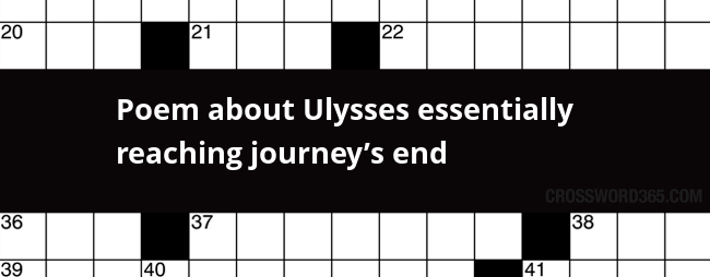 Poem About Ulysses Essentially Reaching Journeys End