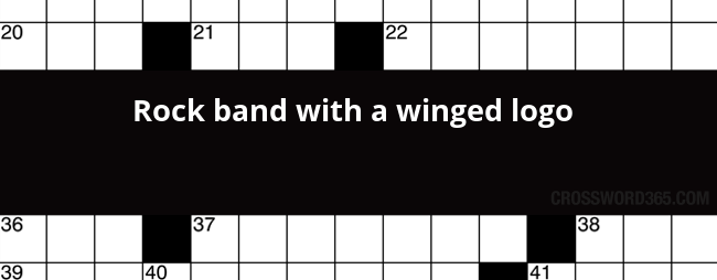 rock band with a winged logo crossword clue rh crossword365 com Rock Band Logos and Names Hard Rock Band Logos