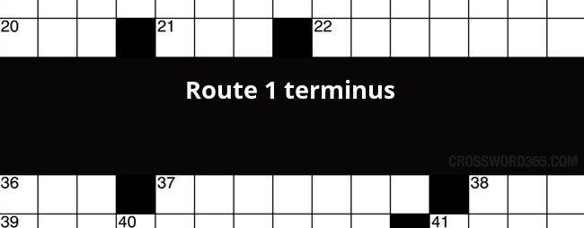 Route 1 Terminus Crossword Clue