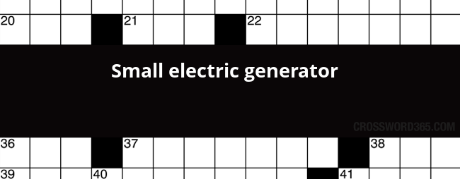Small Electric Generator Crossword Clue