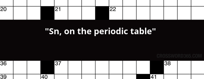 Sn On The Periodic Table Crossword Clue
