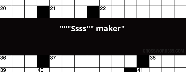 Ssss Maker Crossword Clue