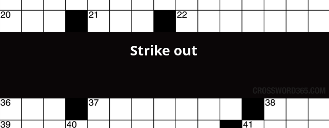 Strike Out Crossword Clue