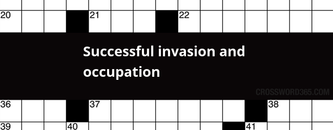 Successful invasion and occupation
