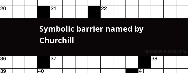 Symbolic diagram crossword clue application wiring diagram symbolic barrier named by churchill crossword clue rh crossword365 com crossword clues dictionary crossword nexus ccuart Gallery