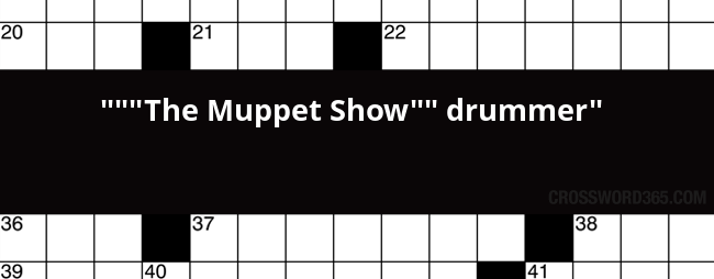 Muppets drummer crossword