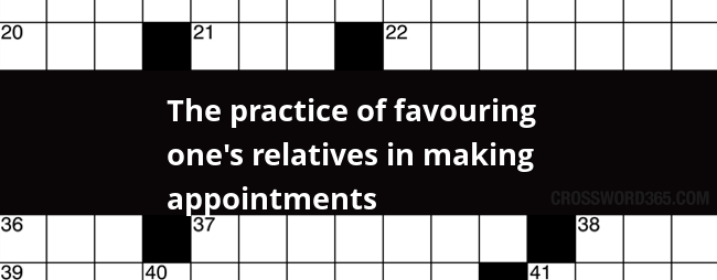 Favouring relatives crossword clue
