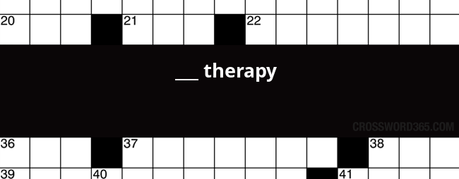 Therapy Crossword Clue