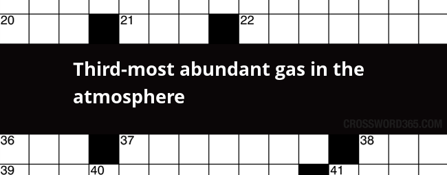 The Most Abundant Gas In The Atmosphere Is >> Third Most Abundant Gas In The Atmosphere Crossword Clue
