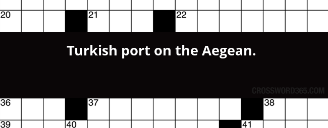Turkish Port On The Aegean Crossword Clue
