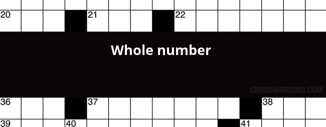 Whole Number Crossword Clue