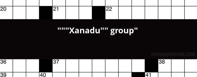 Xanadu Group Crossword Clue